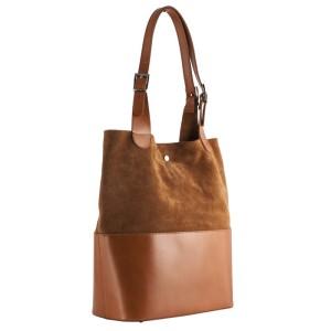 b2b139c1a30e8 Vera Pelle Shopper bag ruda camel ( id 220)