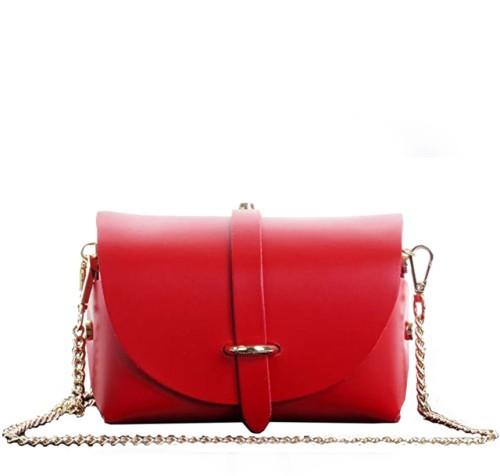 e5049131deb6e Włoska mini torebka skórzana czerwona (id 557) ZOUZI