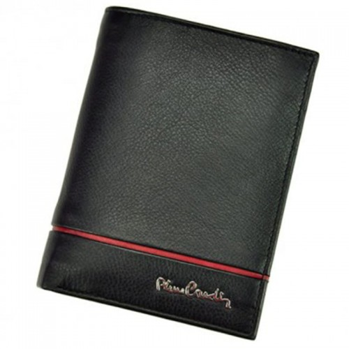 0c6b0e71be927 PIERRE CARDIN Skórzany męski portfel z czerwonym paskiem (id 582) ZOUZI