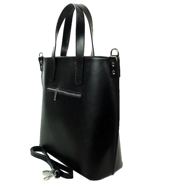 e49f75502cdf2 Vera Pelle Skórzna Torebka Shopper Bag XL Czarna ( id 526) ZOUZI