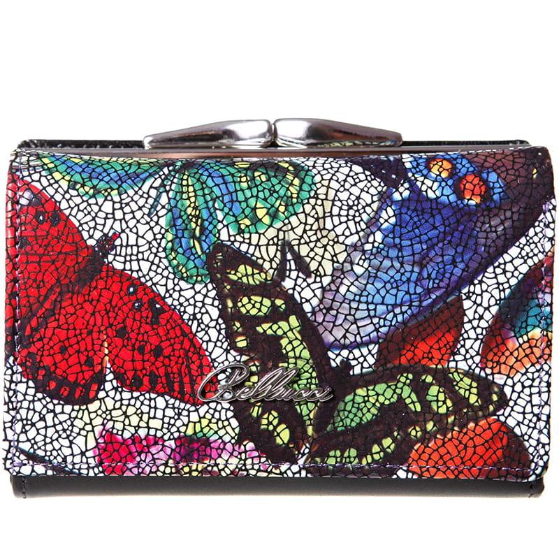 a63823ed60d70 Kolorowe motyle fRANCO BELLUCCI · Kolorowe motyle BELLUCCI · fRANCO  BELLUCCI Skórzany portfel ...