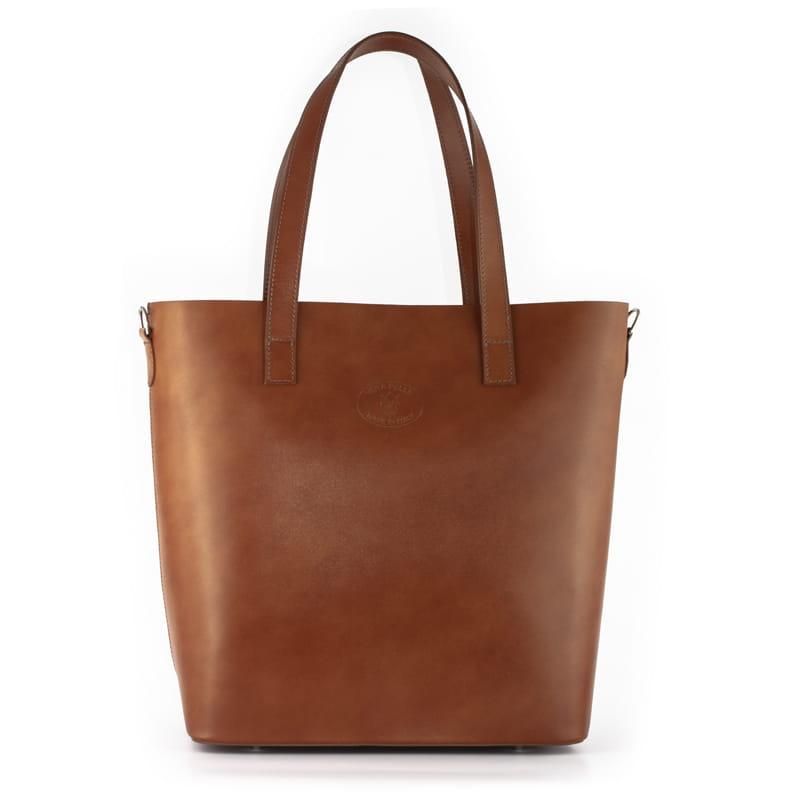 bd51003fd437d Vera Pelle Włoska torebka skórzana Shopper Bag Camel Rudy (id 608) ZOUZI