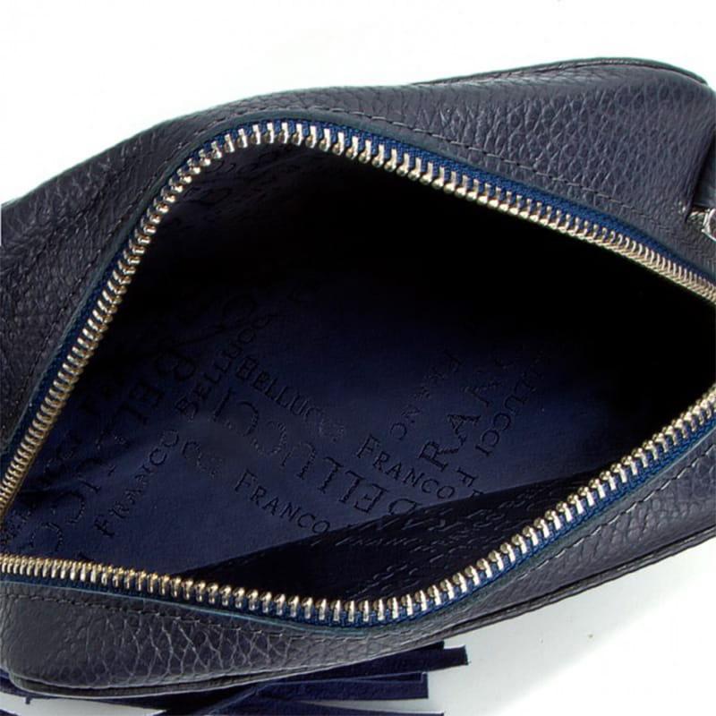 df7707fbaaf0 Bellucci Skórzana torebka z łańcuszkiem (id 435) Granatowa ZOUZI